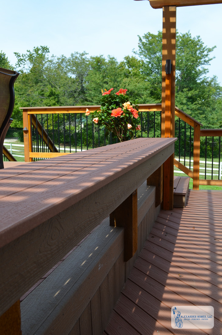 Split Level Deck with Patio