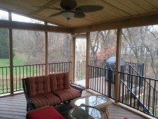 Screened In Porch with closed in storage shed-Shawnee, KS