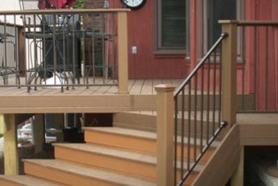 Evergrain Deck with a Fortress Railing