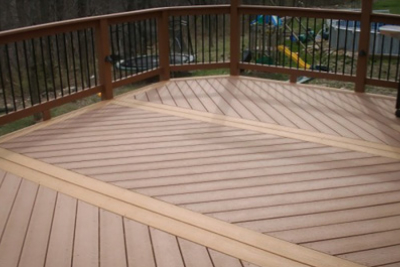 Composite Decking with Designs
