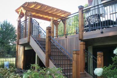 Fiberon Deck with Cedar Pergola