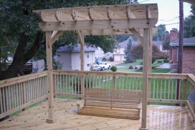 Treated Deck with Arbor-Overland