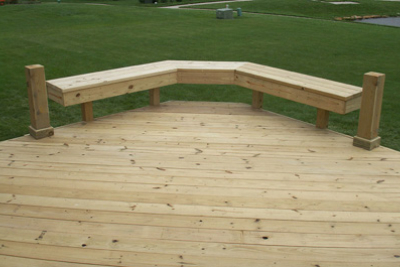 Treated Deck with Benches