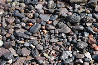 Gravel on a beach