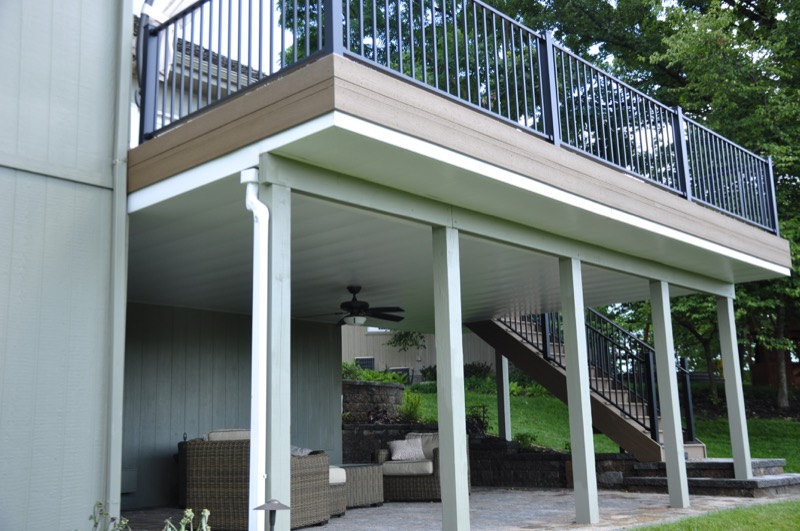 under deck ceiling deck ceilings keep out deck builders kansas city 10616